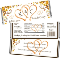 Autumn Fall in Love Bridal Shower Candy Wrappers