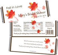 Fall in Love Autumn Bridal Shower Candy Wrappers