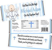 Boy Angel Baptism Christening Candy Wrappers