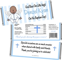 Ethnic Boy Angel Baptism Christening Candy Wrappers