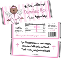 Ethnic Girl Angel Baptism Christening Candy Wrappers