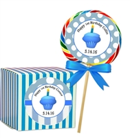 1st Birthday Boy's Sticker Labels