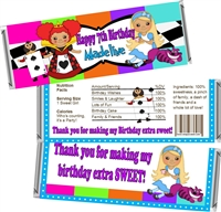Girl's Birthday Candy Wrappers