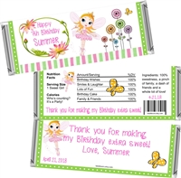 Fairy Chocolate Bar Wrappers - Fairy Party