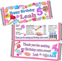 Candy Land Chocolate Bar Wrappers