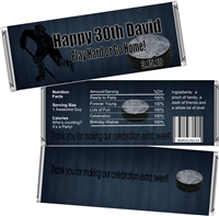 Hockey Theme Men's Birthday Candy Wrappers