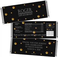 Elegant Men's Birthday Candy Wrappers