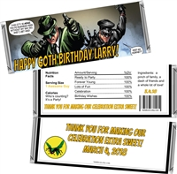 Green Hornet Men's Birthday Candy Wrappers