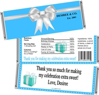 Tiffany Inspired Sweet 16 Birthday Candy Wrappers