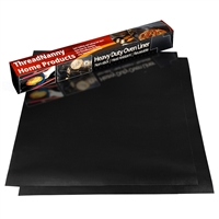 "2 Pack Large Thick Heavy Duty Non Stick Teflon Oven Liners Mat, 17""x 25"" BPA and PFOA Free, for bottom of Electric Oven Gas Oven Microwave Charcoal or Gas Grills"