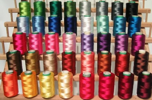 Threadnanny 40 Large Christmas Colors Embroidery Thread For Brother