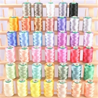40 Spools of Art Silk Rayon Thread for Machine Embroidery - Frosty Colors