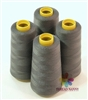 4 Large Cones of Polyester thread in Dark Grey with 3000 yards each
