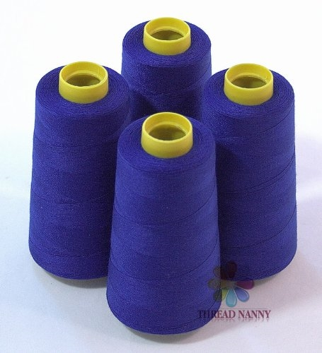 4 Xtra Large Cones of Polyester Sewing Quilting Serger Thread 3000yards NavyBlue