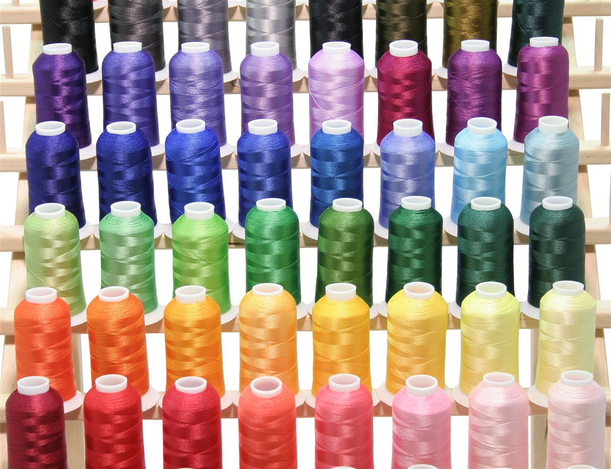 50 Large Premium Cones Of Poly Embroidery Thread
