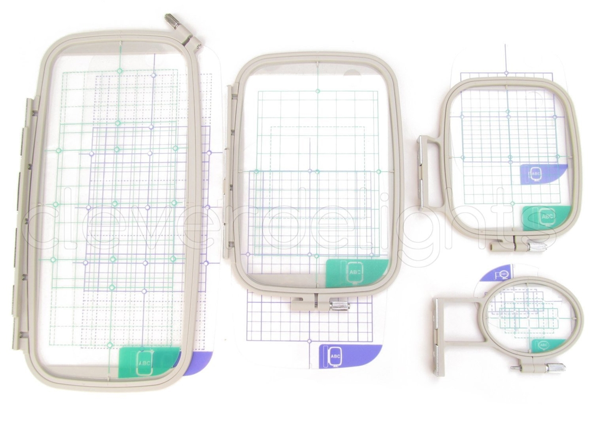 Threadnanny 4-Piece Embroidery Hoop Set - Replaces SA442 SA443 SA444 ...