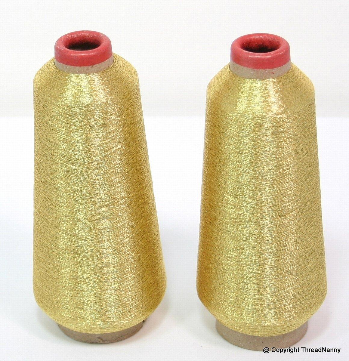 Gold Metallic Embroidery Thread Spools From Threadnanny