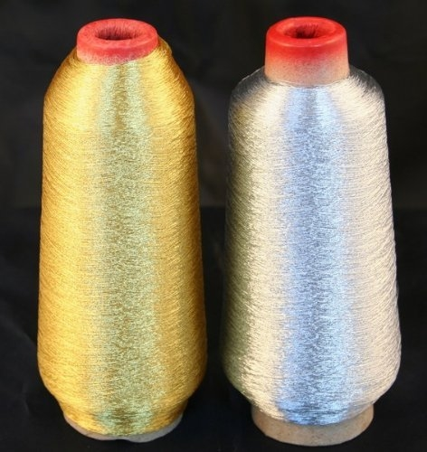 Gold And Silver Metallic Embroidery Thread Spools From Threadnanny