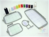 Embroidery Machine Hoop Starter Bundle Set w/ 4 Hoops, 10 Thread Cones