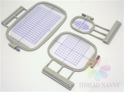 Set of 3 Embroidery Machine Hoops for Brother Innovis