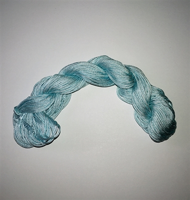 ThreadNanny 25 Yards of 2mm Satin Chinese Knot Cord in Arctic Blue