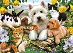 Durable and beautiful Ravesnburger puzzle of cuddly, furry animal friends for ages 6 and up