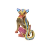 Amarillo the Risk-taking Fox - Mexican Wood Carving for Sale