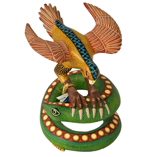 Eagle & Snake Genuine Oaxacan Alebrije for Sale