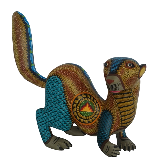 Golden Nutria - Genuine Oaxacan Alebrije for Sale