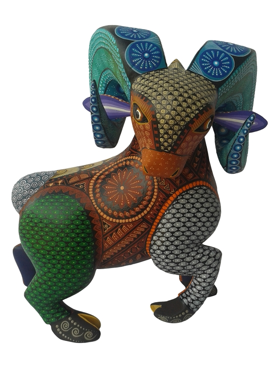 Cimarron Ram - Genuine Oaxacan Alebrije for Sale