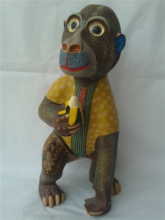 Brown Monkey - Genuine Oaxacan Alebrije for Sale