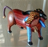 Redchester Alebrije Bull Genuine Oaxacan Wood Carving Mexican Folk Art by Artist Florencio Fuentes Melchor