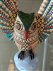 Alebrije Owl Genuine Oaxacan Wood Carving - Fine Mexican Folk Art - OWLIVIA is by Oaxacan Artist Florencio Fuentes Melchor