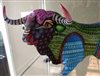 Bodacious the Alebrije Bull Genuine Wood Carving Fine Mexican Folk Art by Oaxacan Artist Florencio Fuentes Melchor