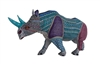 Roadblock the Alebrije Rhino Genuine Oaxacan Wood Carving Mexican Folk Art by Oaxacan Artist Florencio Fuentes Melchor