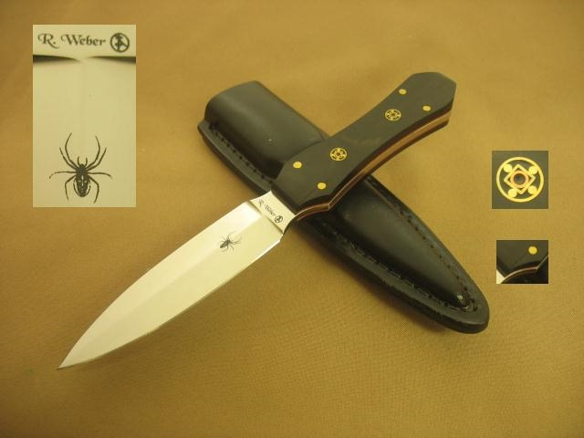 webber handmade knives boot knife dagger stiletto fighting knife by richard 6238