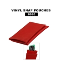 red vinyl pouches