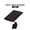 black vinyl pouches