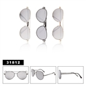 Aviator Sunglasses with Mirrored Lens