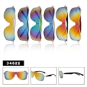 mirrored one piece lens sunglasses