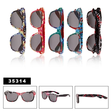 Tie-Dye California Classic Sunglasses Wholesale