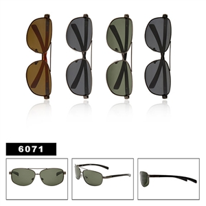 Polarized Aviator Sunglasses with Spring Hinges