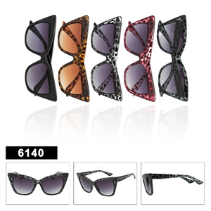 Ladies Animal Printed Clear Sunglasses