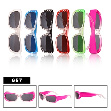 Adorable wholesale kids rhinestone sunglasses