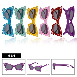 Adorable wholesale kids butterfly sunglasses