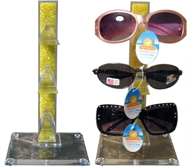 Wholesale display stand-holds 3 pairs