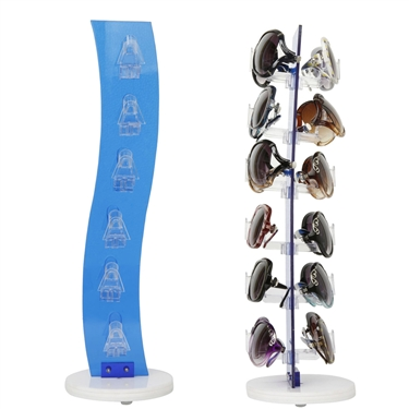 Wave design countertop wholesale sunglass display
