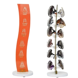 Great countertop wave design wholesale sunglass display
