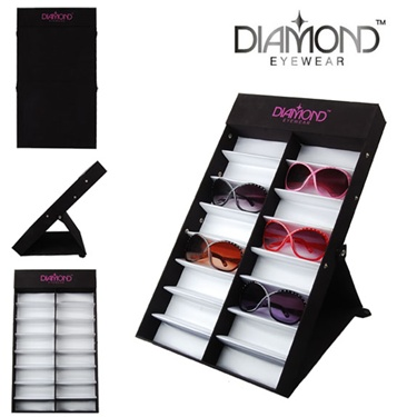 Wholesale folding Diamond Eyewear display