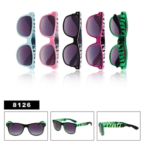 California Classics sunglasses with tiger print